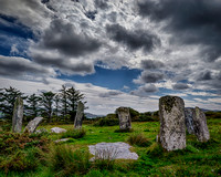 Dereenataggert Stone Circle under Stormy Skies, color
