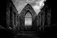 Claregalway Friary, From Within, Monochrome #1
