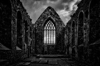 Claregalway Friary, Ruin From Within, Monochrome #2